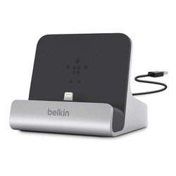 Док-станция Belkin для iPad, iPad mini, iPhone (Lightning) (F8J088bt) (серебристо-черный)